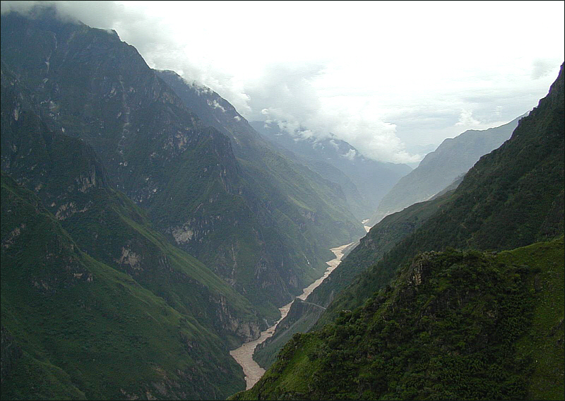Tiger Leaping Gorge in Yunnan province
